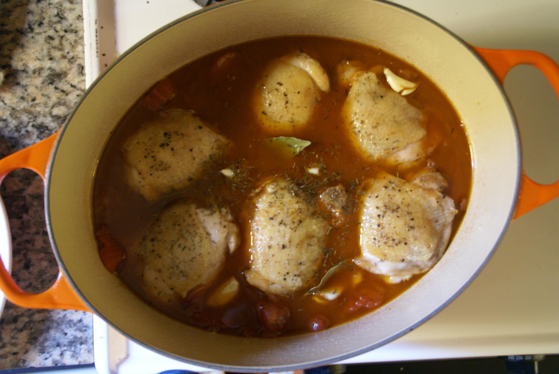 Red Wine Vinegar-Braised Chicken Thighs | rookery